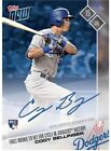 2017 TOPPS NOW #356A CODY BELLINGER AUTO # 42 49 1ST DODGERS ROOKIE TO HIT CYCLE