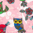 Timeless Treasures Fabrics Animal Novelty Flannel Fabric Pink Owls