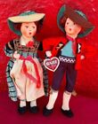 2 Lot Pair Baitz Austrian Doll Whistling Boy  Girl W Original Clothes  Tag