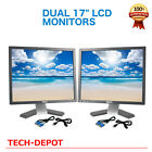 Dell Dual Ultrasharp 17 Matching LCD Monitors with the cables