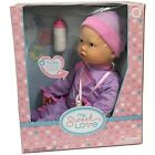 INTERACTIVE BABY DOLL Makes Breathing Sounds Sucks on Her Bottle or Pacifier