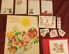 Lot vintage Strawberry Shortcake Rare Folder Stickers Card Scrapbooking Apricot