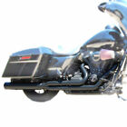 Boss Fat Cat Full Exhaust Blk Straight Cut Perf Wrap Baffle 09 16 HD Touring