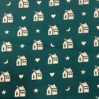 Fabric 32 X 43 Primitive Moons Houses Stars Hearts 4U23 Quilting Cotton
