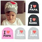 Lovely Toddler Baby Boy Papa Mama Infant Cartoon and Letter Hat Cap Beanie CZ #U