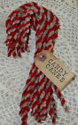 SeT of 15 ~ GrUnGy pRiMiTivE CANDY CANES CANE ChRiStMaS OrNaMeNtS w/ hAnG TaG