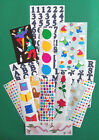 Creative Memories Sticker Lot 15 Strips Assorted Themes  Strip Sizes