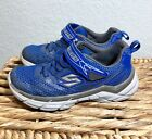 Boys Skechers Brand Athletic Shoes Size 12 Blue Gray VGUC