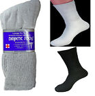 12,6,3 Pairs Diabetic Crew Circulatory Socks Health Mens Cotton 9-11 10-13 13-15