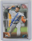 JOSE FERNANDEZ Marlins SIGNED 2016 Bowman Baseball #49 Autograph ON CARD AUTO