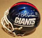 MICHAEL STRAHAN SIGNED AUTO NEW YORK GIANTS, FULL SIZE COLOR RUSH REPLICA HELMET