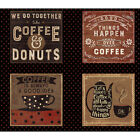 Clothworks Espresso Yourself by Dan DiPaolo Coffee Sayings Panel 44 X 24