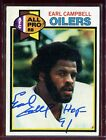 Earl Campbell 1979 Topps #390 Rookie HOF 91 Signed Card Authentic Autograph Auto