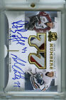 2013-14 UD THE CUP RAY BOURQUE ADAM OATES DUAL HONORABLE NUMBERS PATCH AUTO 7