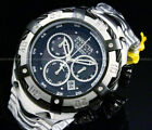New Invicta Thunder Bolt SWISS MOVT 52MM Black MOP Dial Chrono SS Bracelet Watch