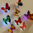 12PCS Glowing 3D Butterfly LED Wall Sticker Light Art Decal Lamp Home Room Decor