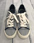 Tommy Hilfiger Canvas Sneakers Shoes Blue White Striped Womens Size 6