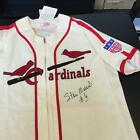 Stan Musial #6 Signed Authentic St. Louis Cardinals Mitchell & Ness Jersey JSA
