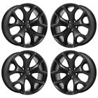 20 DODGE CHARGER RT BLACK WHEELS RIMS FACTORY OEM 2016 2017 2018 SET 4 2523