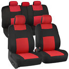 Polycloth Economy Car Seat Covers For Auto Suv Truck 9pcs Front Rear 6 Colors