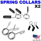 Spring Clamp Collar Clips Weight Bar Dumbbells Gym Fitness Training Equipment x2