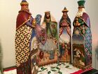 Jim Shore Nativity Extra Large 5 Piece 2005 06 Mint Condition 175 20 High