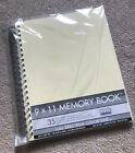NEW Scrapbooking Memory Book 9 x 11 35 Blank Pages Spiral Bound
