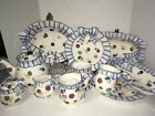 New in Boxes 11 pc Fitz & Floyd Petits Vegs Blue Ribbon Serving Dishes Hand Pntd