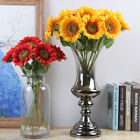 10Pcs Fake Sunflower Artificial Silk Flower Bouquet Home Wedding Table Decor