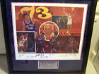 NEW YORK KNICKS NBA 1973 CHAMPION TEAM & COACH SIGNED LITHOGRAPH CERTIFIED