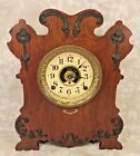 Seth Thomas Art Nouveau Style Case Clock w Label Reminder Alarm Model Running