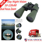 Day Night 10x 120x90 HUGE Power Zoom Military Grade Hunting Binoculars Pouch BP
