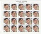MNH - 4494 - Ronald Reagan - unfolded pane of 20 stamps-Under face