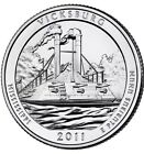 2011 D or P Vicksburg NATIONAL PARK QUARTER UNC see disc