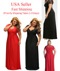 2018 Women's Plus Size High Waist Evening Cocktail Gown Long Maxi Lace Dress 49