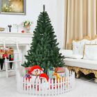 6ft Christmas Tree Artificial Unlit Premium Spruce Hinged Tree with Metal Stand