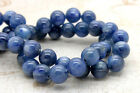 Natural Kyanite Grade AA High Quality Blue Smooth Round Sphere Gemstone Beads