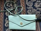 Tory Burch Travel Clutch Bag With Long Detachable Strap in Mint Colour Excellent