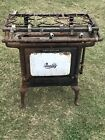 Antique Quality Gas 3 Burner Stove With Porcelain Oven Door ( Great Display)