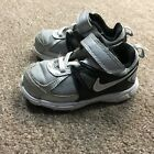 Nike Silver Black Slip On Velcro Sneakers Shoes Toddler Size 7