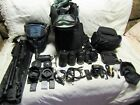 Huge Bundle Nikon D3200 242MP DSLR Camera 3 Lens 18 55mm  55 200mm