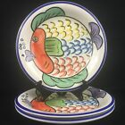3 Salad Plates by Tabletops Unlimited PESCADA Fish Hand Painted Collection