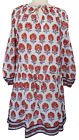 Anokhi Long Tunic - Poppy Butti - 100% cotton - Hand Block Printed - Size S/M