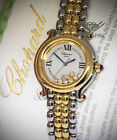 Chopard Happy Sport Steel & 18k Gold 7 Floating Diamond Ladies Watch 27/8237-21