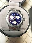 Tag Heuer 2000 Classic Professional CK1112-0 Watch Mens BLUE SILVER Chronograph