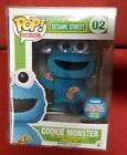 cookie monster flocked nycc exclusive sesame street funko pop with pop protector