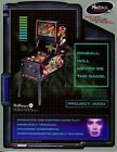 Revenge From Mars Pinball 2000 Williams Pinball Flyer /Brochure/ Ad - Mint