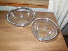 2 VINTAGE Fire-King Rolled Rim Mixing Bowl Sapphire Blue Nesting Bowls, No Chips