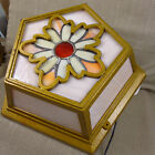Art Deco Ceiling Light Lamp Flush Stained Glass Tiffany Style