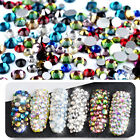 300Pcs/Set Fashion Glittery Multi-size Nail Art Rhinestone Stickers DIY Decal